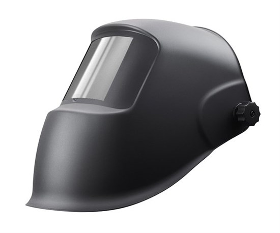 Маска ГЛАДИАТОР черная со стеклом С5 - фото 12469