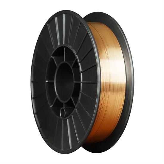 ER70S-6 ф.1,0 мм, 5 кг (ан.Св08Г2С) Проволока стальная омедненная для полуавтоматической сварки - фото 12614