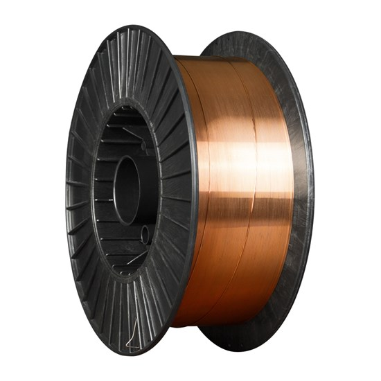 ER70S-6 д.0,8 мм, 15 кг (ан.Св08Г2С) Проволока стальная омедненная для полуавтоматической сварки - фото 12617