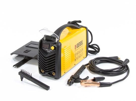 Аппарат инверторный дуговой сварки ММА-180ID, 180 А, ПВР 60%, D электрода 1,6-4 мм, провод 2 метра DENZEL - фото 13615