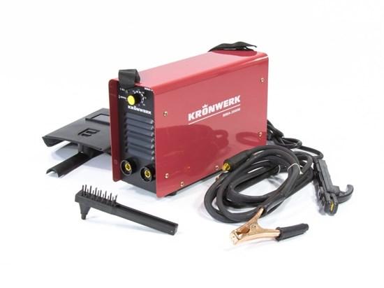 Аппарат инверторный дуговой сварки ММА-200IW, 200 А, ПВР 60%, диаметр электрода 1,6-5мм, провод 2 м Kronwerk - фото 13624