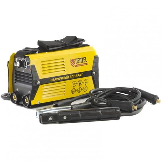 Аппарат инверторный дуговой сварки DS-160 Compact, 160 А, ПВ 70%, диаметр электрода 1,6-3,2 мм Denzel - фото 13701