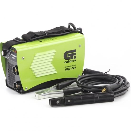 Аппарат инверторный дуговой сварки ИДС-220, 220 А, ПВ 80%, D электрода 1,6-5 мм. СИБРТЕХ - фото 13707