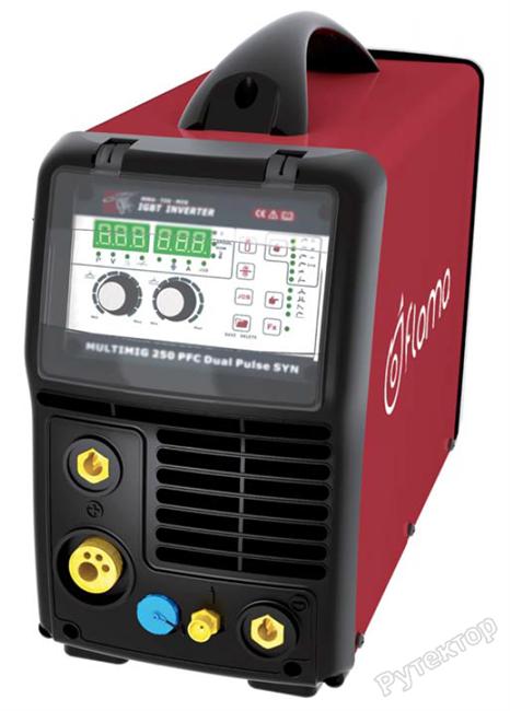 Сварочный полуавтомат инверторный многофункциональный с синергетическим управлением и импульсным режимом Flama MULTIMIG 250 Dual Pulse - фото 19509