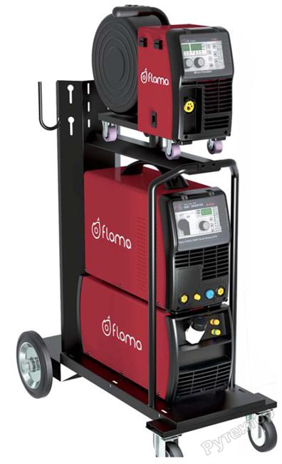 Сварочный полуавтомат инверторный многофункциональный с синергетическим управлением и импульсным режимом Flama MULTIMIG 400 Dual Pulse - фото 19520