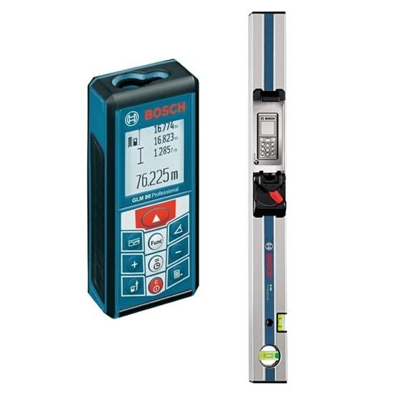 Лазерный дальномер Bosch GLM 80 (0601072301), до 80 м, резьба 1/4, шина Bosch R60, сумка - фото 19919