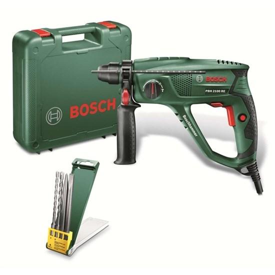 Перфоратор Bosch PBH 2100 RE (06033A9302), 550Вт, SDS-Plus, 1.7 Дж, 5800 уд/мин, 2300 об/мин   40109 - фото 19946