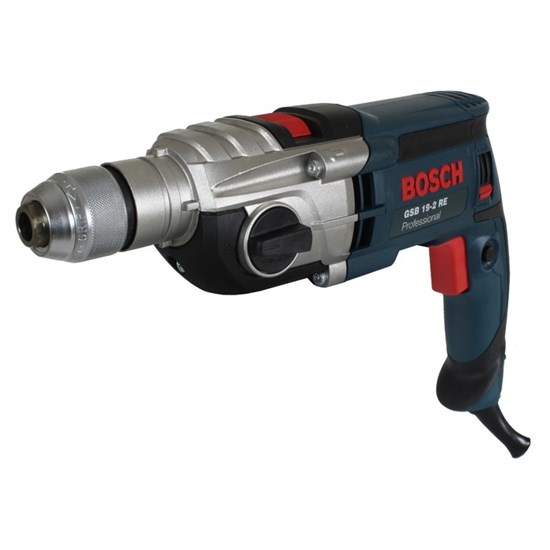 Ударная дрель Bosch GSB 19-2 RE (0.601.17B.500), 850 Вт, БЗП 13 мм, кейс - фото 20009