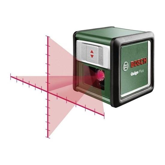 Лазерный нивелир Bosch Quigo Plus (0603663600), диапазон 7 м, 1/4, штатив - фото 20402
