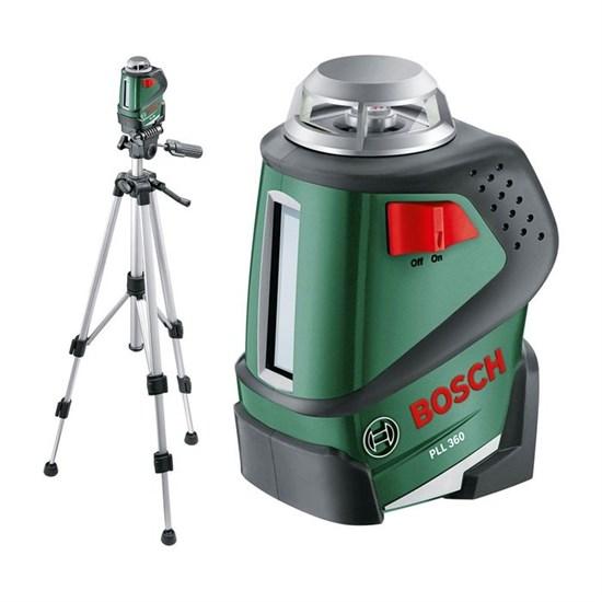 Лазерный нивелир Bosch PLL 360 Set (0603663001), 360 град., 2 луча, штатив 1,5 м - фото 20414