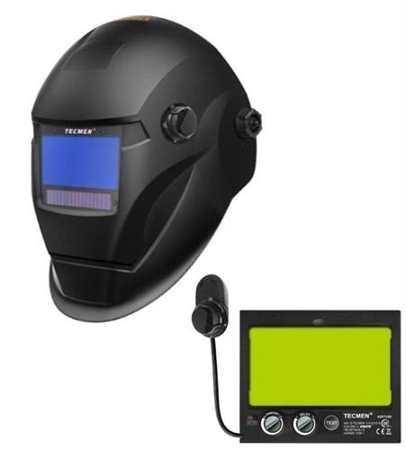 Сварочная маска с автоматическим светофильтром TECMEN ADF 735S TM14 Черная - фото 21592