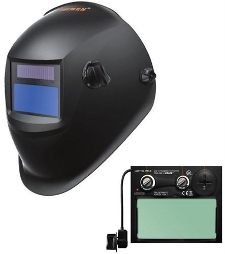 Сварочная маска с автоматическим светофильтром Tecmen ADF - 715S 9-13 TM15 Черн. - фото 21595