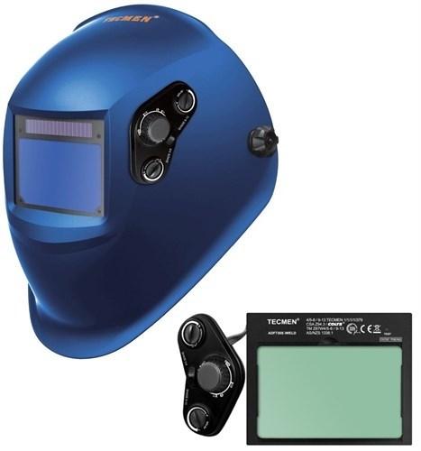 Сварочная маска с автоматическим светофильтром Tecmen ADF - 730S 5-13 TM15 Синяя - фото 21599
