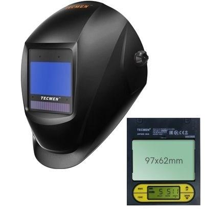 Сварочная маска с автоматическим светофильтром Tecmen ADF 825S TM16 черная - фото 21628