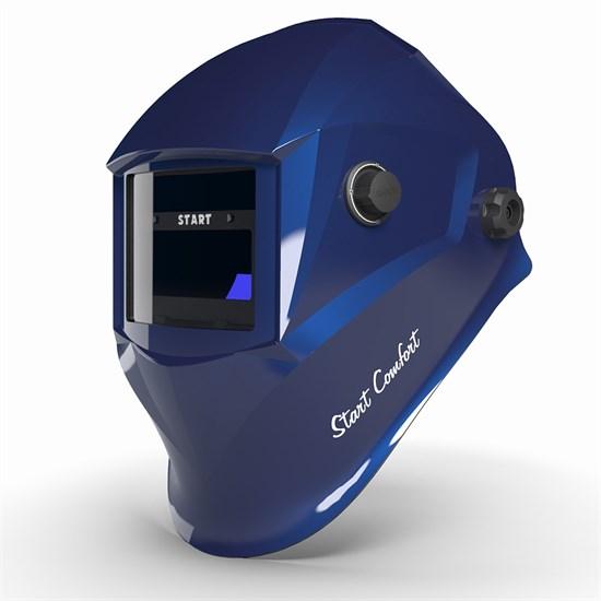 Маска сварщика хамелеон Start-Comfort с АСФ 505 (Синий глянец) - фото 29973