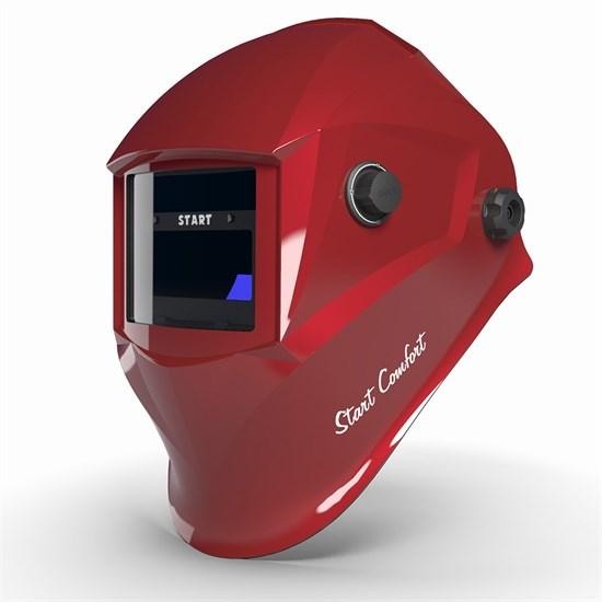 Маска сварщика хамелеон START-COMFORT c АСФ 505 (Красный глянец) - фото 29978