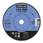 Круг отрезной по металлу FerrLine Expert 180 х 1,8 х 22,2 мм A46TBF